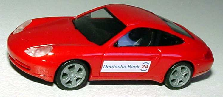 Foto 1:87 Porsche 911 Carrera (996) Facelift Deutsche Bank 24 herpa