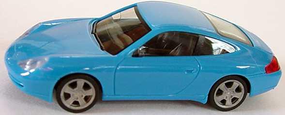 Foto 1:87 Porsche 911 Carrera (996) Facelift hellblau herpa 022484