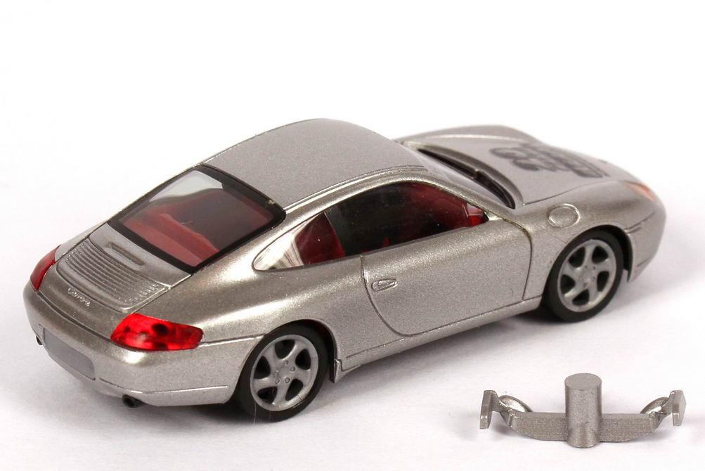Foto 1:87 Porsche 911 Carrera (996) silber-met. 20 Jahre Herpa, Felgen grau herpa