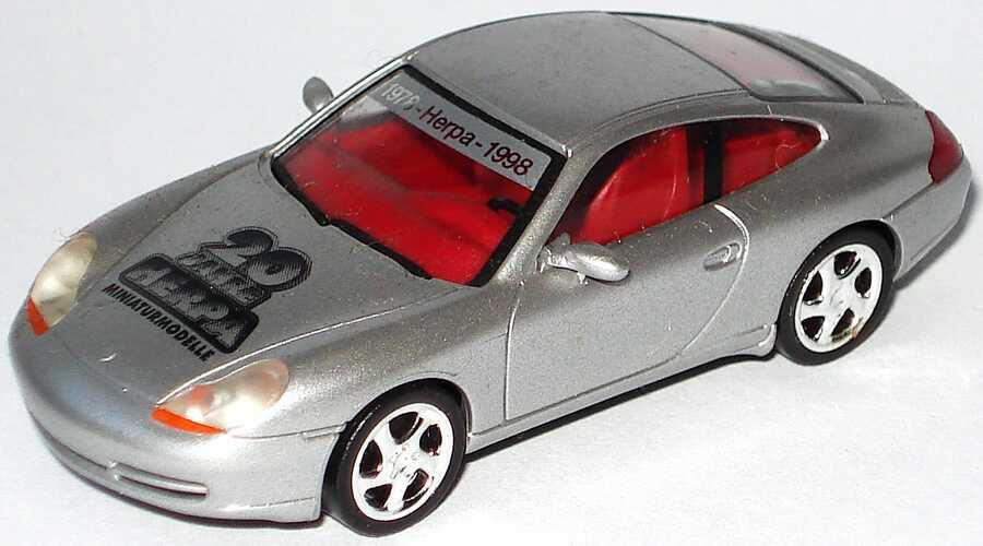 Foto 1:87 Porsche 911 Carrera (996) silber-met. 20 Jahre Herpa herpa