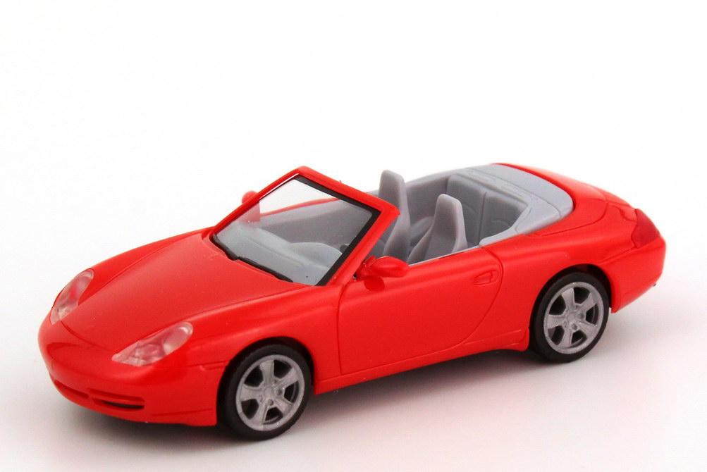 Foto 1:87 Porsche 911 Carrera Cabrio (996 Facelift) rot herpa 022675
