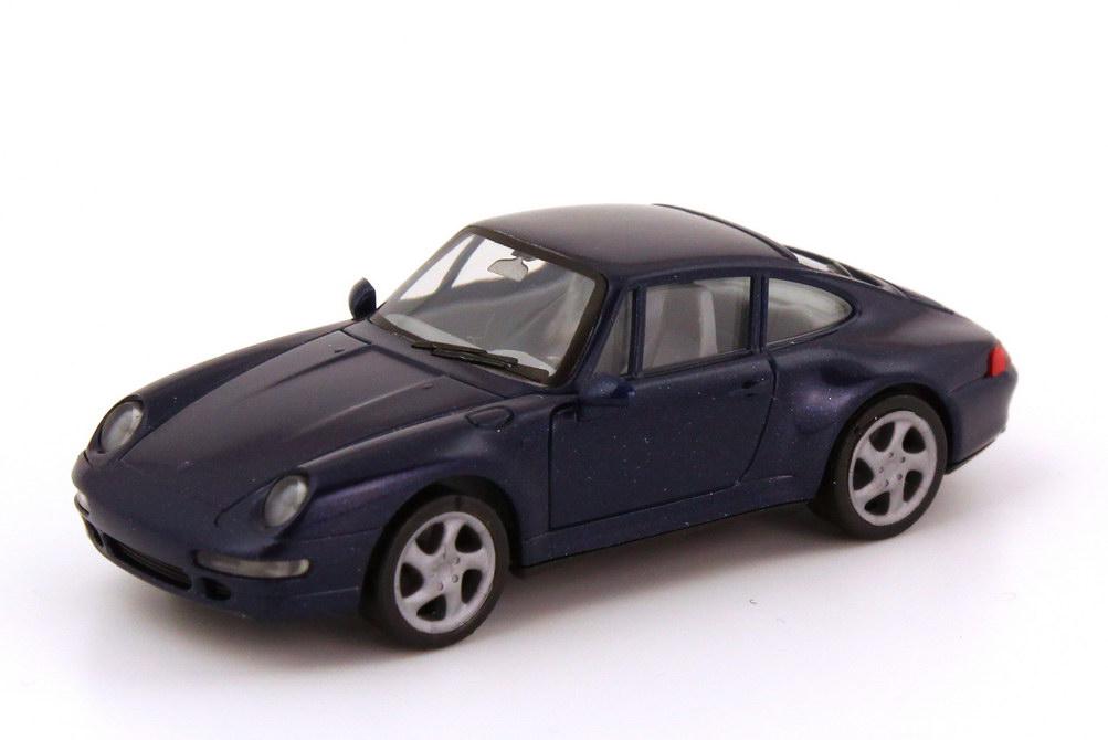 Foto 1:87 Porsche 911 Carrera S (993) dunkelblau-met., IA grau herpa 032230/188043