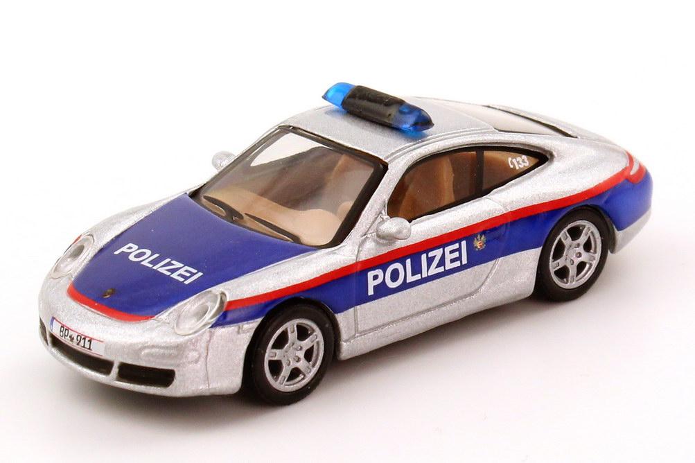 Foto 1:87 Porsche 911 Carrera S (997) Polizei Österreich, silber blau Schuco 25291
