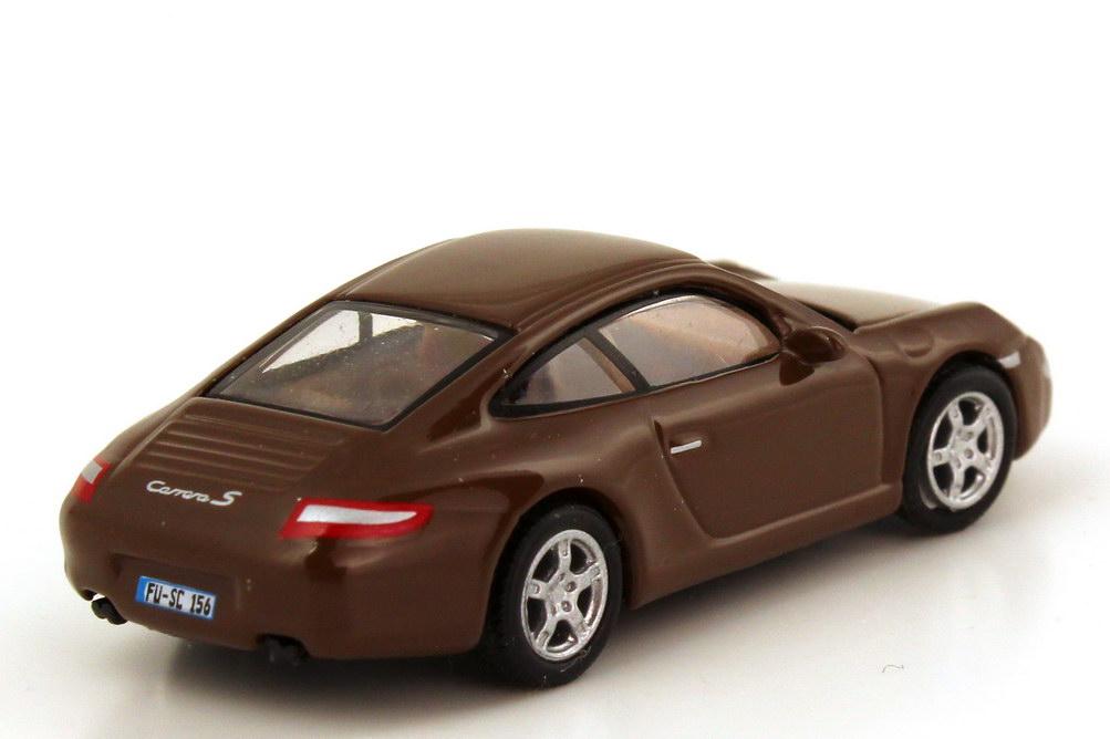 Foto 1:87 Porsche 911 Carrera S (997) braun Schuco 25813