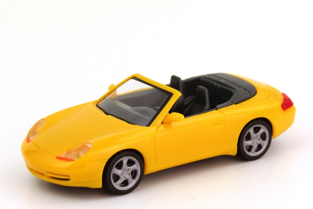 Foto 1:87 Porsche 911 Carrera Cabrio (996) gelb herpa 022552