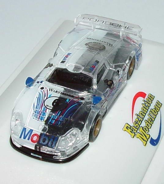 Foto 1:87 Porsche 911 GT1 Mobil 1, Warsteiner Nr.6 (halbtransparent) Faszination Modellbau, 10.-12. März 2000 Trumpeter 4019p
