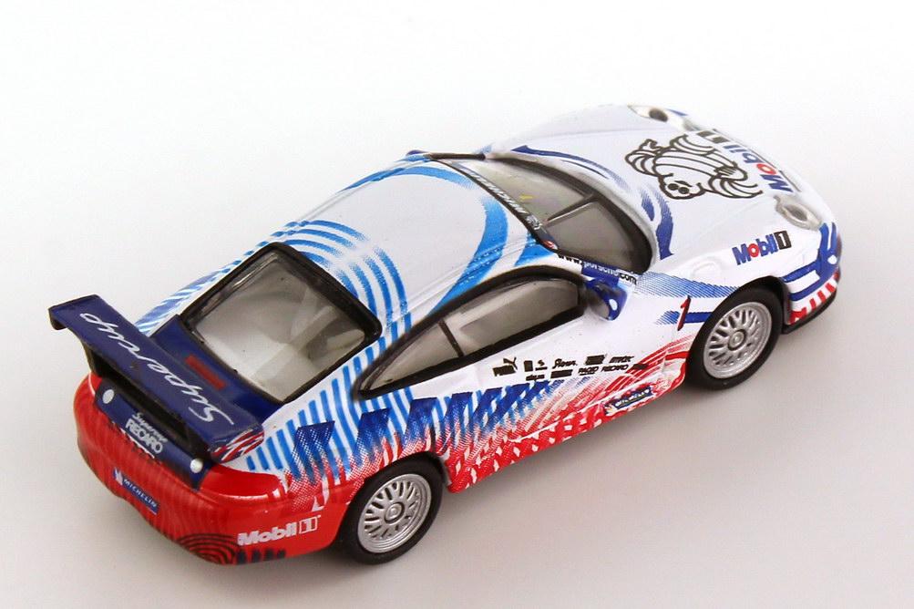 Foto 1:87 Porsche 911 GT3 Cup (996) PSC 2004 Michelin, Supercup Nr.1, VIP-Fahrzeug Schuco 25014