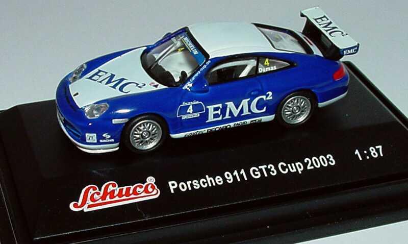Foto 1:87 Porsche 911 GT3 Cup (996) PCC 2003 Carsport Racing, EMC2 Nr.4, Romain Dumas Schuco 21833