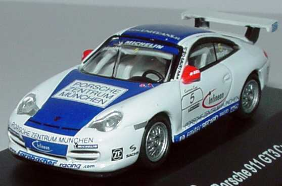 Foto 1:87 Porsche 911 GT3 Cup (996) PCC 2003 Farnbacher Racing, Porsche Zentrum München Nr.5, Frank Stippler Schuco 21836