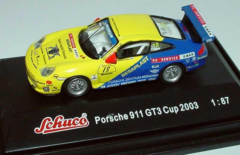 Foto 1:87 Porsche 911 GT3 Cup (996) PCC 2003 MRS-Team, PC Service GmbH Nr.18, Kurt Thiim Schuco 21841