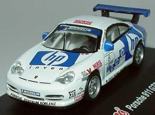 Foto 1:87 Porsche 911 GT3 Cup (996) PCC 2003 Porsche Zentrum Koblenz, HP invent Nr.8, Davison Schuco 21834