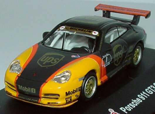 Foto 1:87 Porsche 911 GT3 Cup (996) PCC 2003 UPS Porsche-Junior Team Nr.1, Mike Rockenfeller Schuco 21829