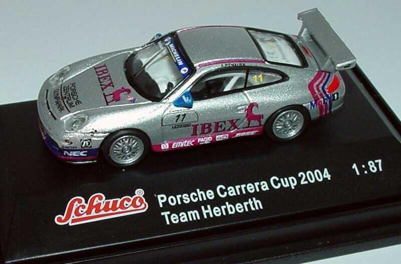 Foto 1:87 Porsche 911 GT3 Cup (996) PCC 2004 Herberth Motorsport, IBEX Nr.11, A. Renauer Schuco 21947