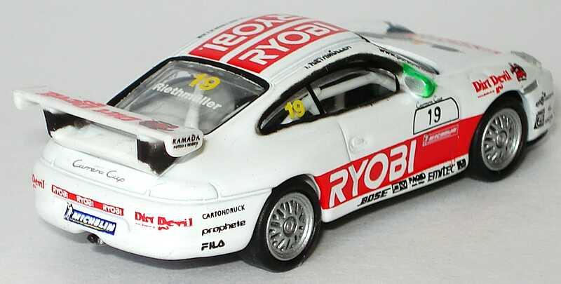 Foto 1:87 Porsche 911 GT3 Cup (996) PCC 2004 Schnabl Engineering, Ryobi, Dirt Devil Nr.19, Riethmüller Schuco 21946