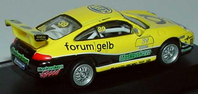 Foto 1:87 Porsche 911 GT3 Cup (996) PCC 2004 Tolimit, Hella, Post forum gelb, Moskovskaya Nr.39, Menzel Schuco 21979