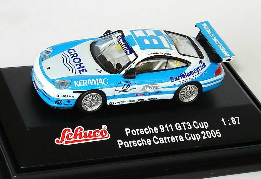 Foto 1:87 Porsche 911 GT3 Cup (996) PCC 2005 Bergmann & Franz, Grohe Nr.16, Bartholomeyczik Schuco 25023