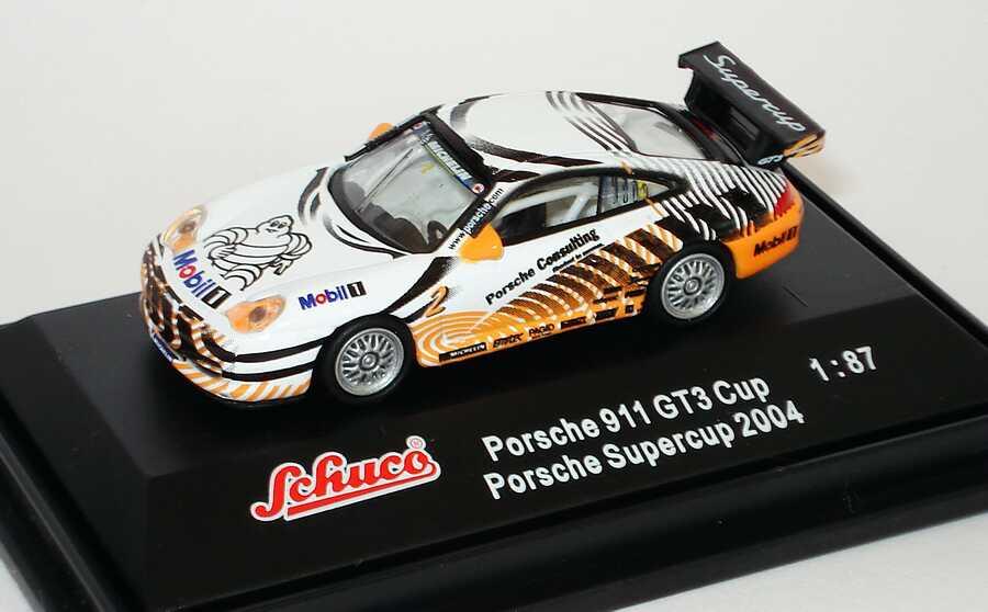 Foto 1:87 Porsche 911 GT3 Cup (996) PSC 2004 Porsche Consulting Nr.2, VIP-Fahrzeug Schuco 25015