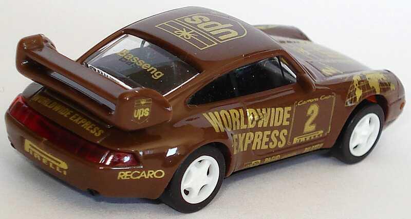 Foto 1:87 Porsche 911 RS Clubsport (993) PCC ´97 UPS Worldwide Express Nr.2, Basseng euromodell