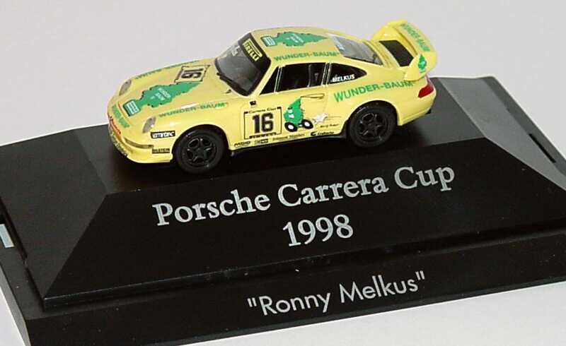 Foto 1:87 Porsche 911 RS Clubsport (993) PCC ´98 Wunder-Baum Nr.16, Melkus herpa 037525