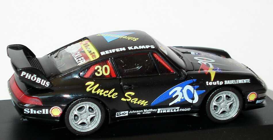Foto 1:87 Porsche 911 RS Clubsport 993 PSC 1995 tolimit Uncle Sam Nr.30 Frank Schmickler - herpa 036719