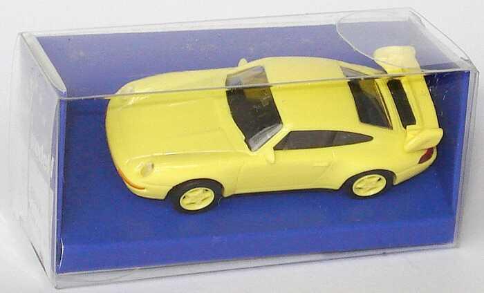 Foto 1:87 Porsche 911 RS Clubsport (993) ginstergelb, Felgen ginstergelb, mit Überrollbügel euromodell 00406