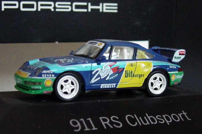 Foto 1:87 Porsche 911 RS Clubsport Mild Seven, Bitburger Nr.25, Collard (Supercup, Porsche) herpa WAP022011
