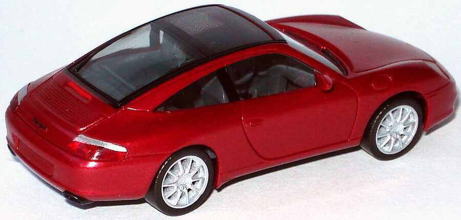 Foto 1:87 Porsche 911 Targa (996) rot-met. (ohne PC-Box) herpa 033039