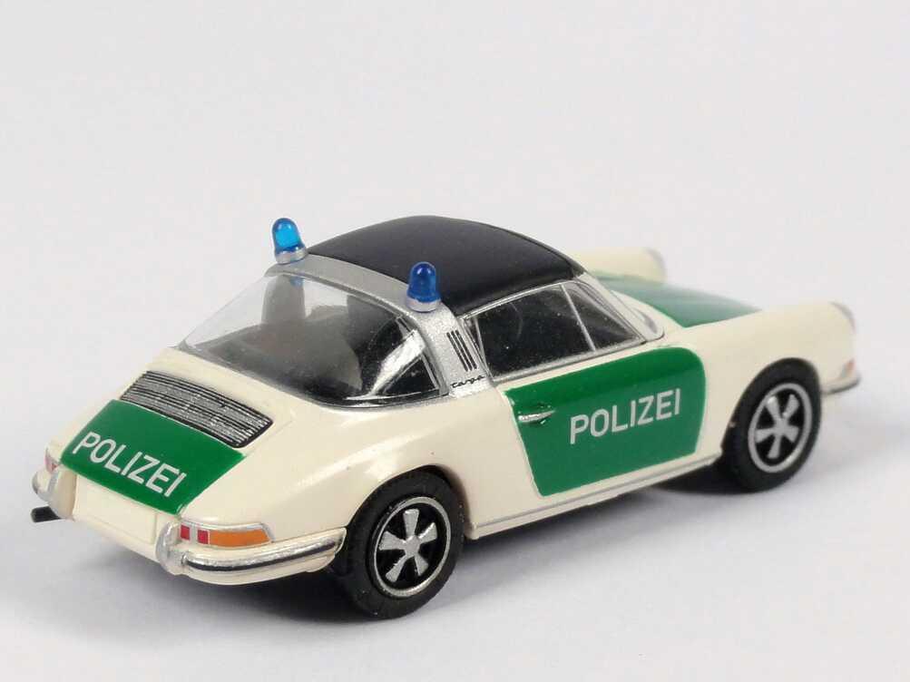 Foto 1:87 Porsche 911 Targa Polizei weiß/grün Brekina 16257