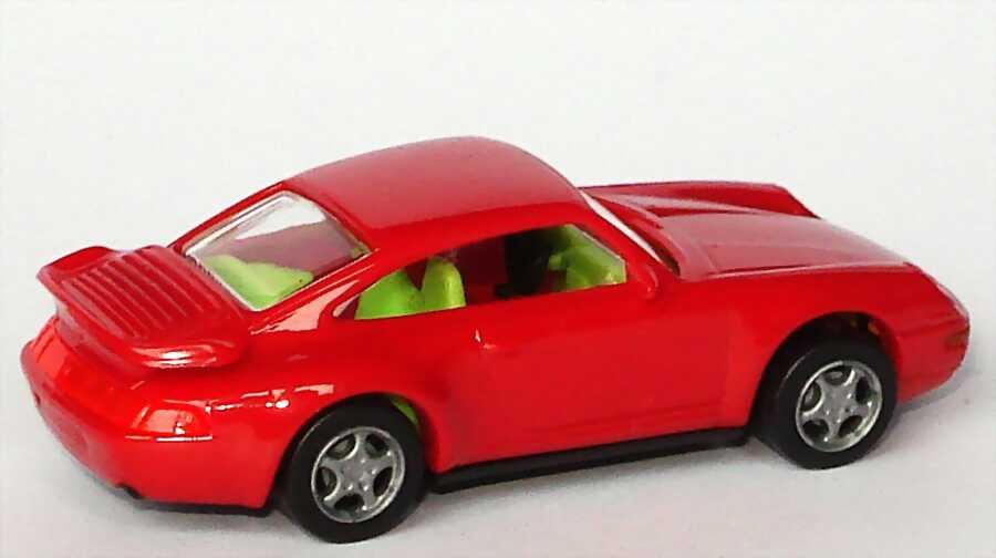 Foto 1:87 Porsche 911 Turbo (993) kirschrot, IA neongrün euromodell 00899