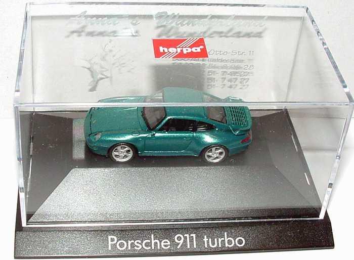 Foto 1:87 Porsche 911 Turbo (993) lagunengrün-met. Anna´s Wunderland herpa