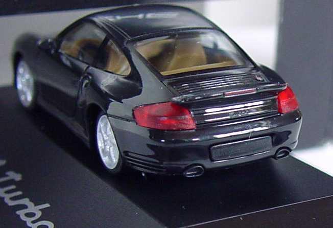 Foto 1:87 Porsche 911 Turbo (996) schwarz Werbemodell herpa WAP02203410