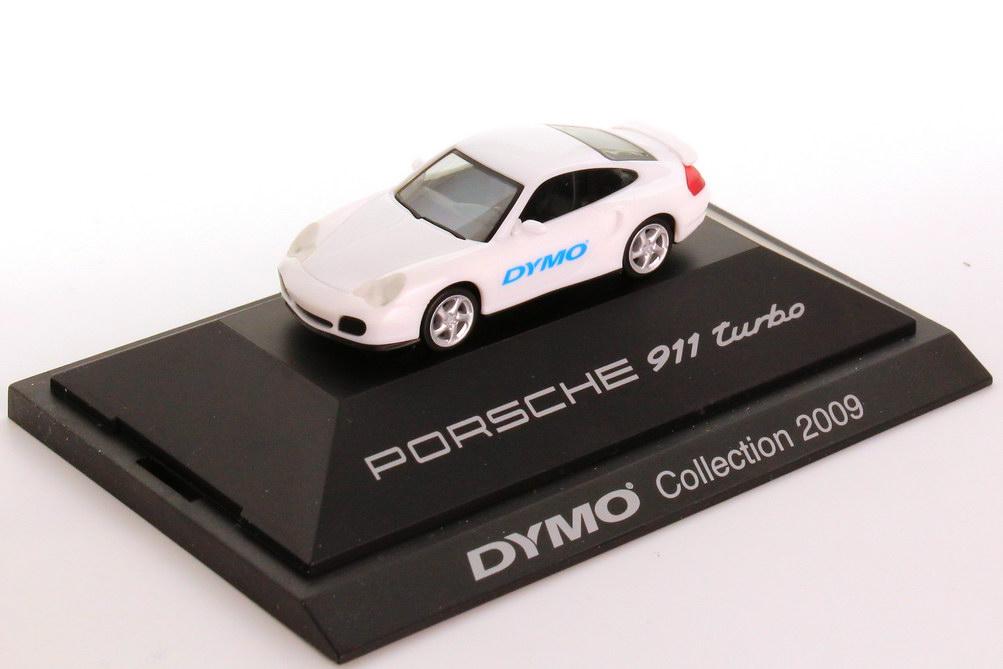 Foto 1:87 Porsche 911 Turbo (Typ 996) weiß DYMO-Collection 2009 herpa