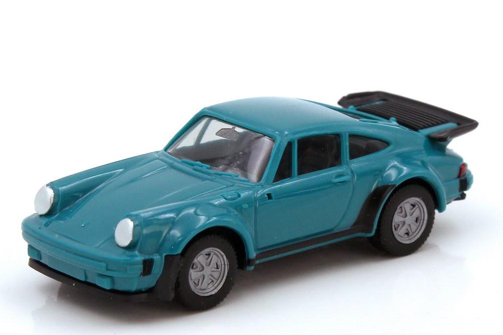 Foto 1:87 Porsche 911 turbo Typ 930 türkis - herpa 2060