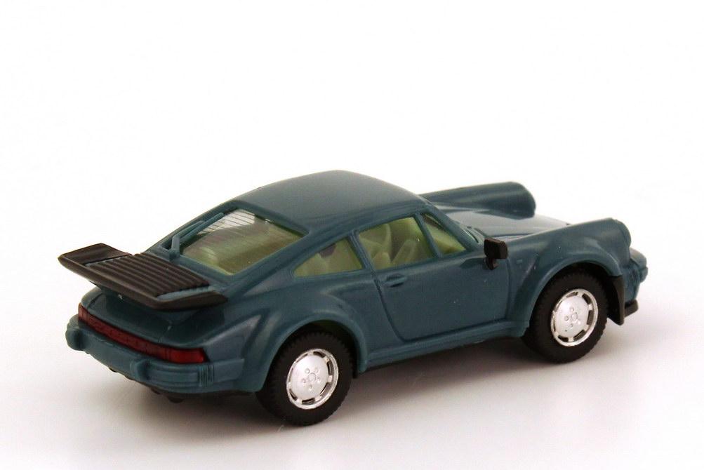 Foto 1:87 Porsche 911 turbo petrolblau herpa 2060