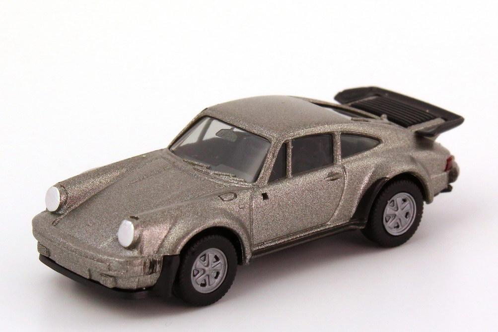 Foto 1:87 Porsche 911 turbo (Typ 930) silbergrau-met. herpa 3060/030601
