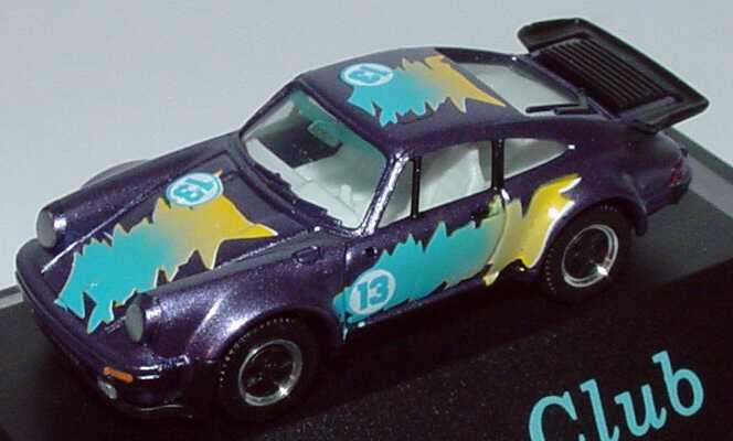 Foto 1:87 Porsche 911 turbo veilchenblau-met. Turbo-Club Nr.13 (Seibert-Sondermodell) herpa