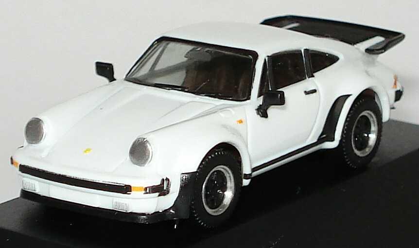3050 Porsche 930 Turbo weiß in O-Box #9906 Herpa 1//87 Nr