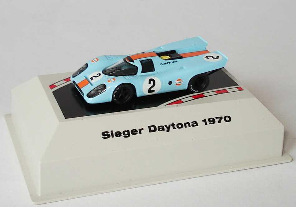Foto 1:87 Porsche 917 K Daytona 1970 Gulf-Porsche Nr.2, Kinnunen / Rodriguez (Siegerfahrzeug) Brekina 16007