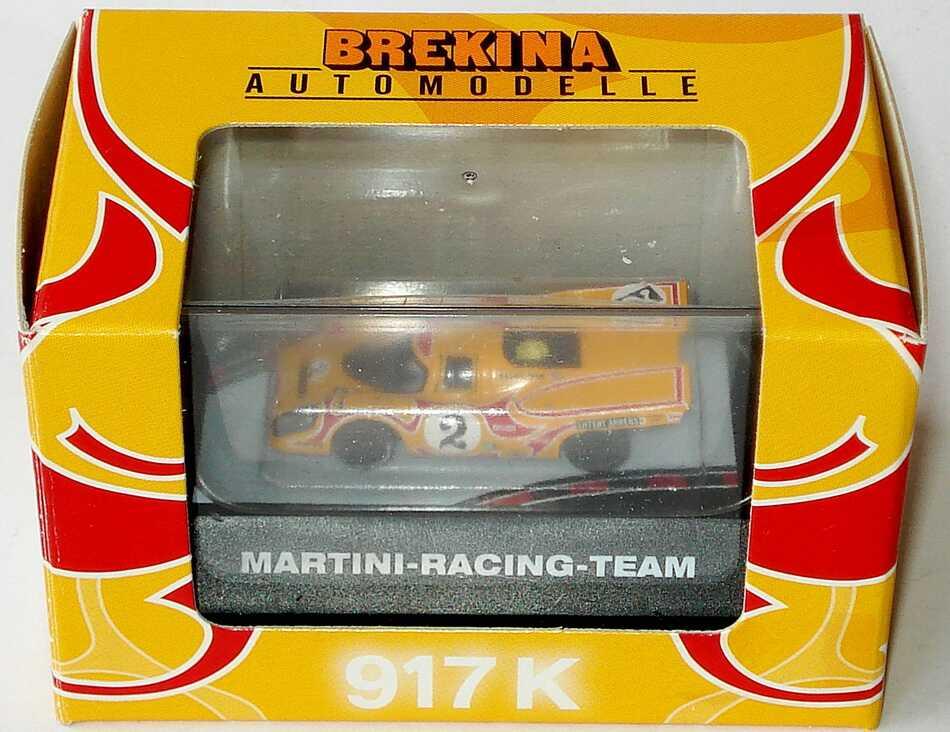 Foto 1:87 Porsche 917 K Martini-Racing Nr.2 Psycho gelb/rot Brekina 16005
