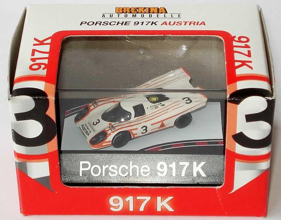 Foto 1:87 Porsche 917 K Porsche Austria Nr.3 Brekina 16011