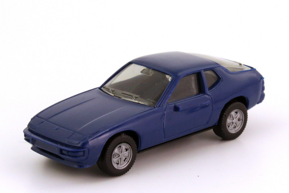 Foto 1:87 Porsche 924 dunkel-blau Fuchs-Felgen - herpa 2002