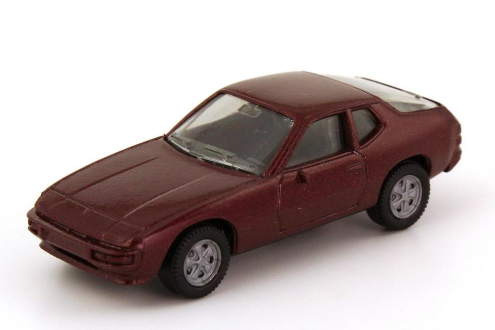 Foto 1:87 Porsche 924 dunkel-weinrot-met., Fuchs-Felgen herpa 031806
