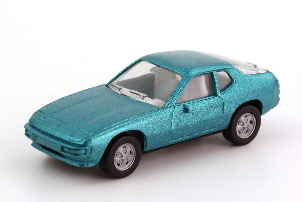 Foto 1:87 Porsche 924 lagunenblau-met., Fuchs-Felgen herpa 3002