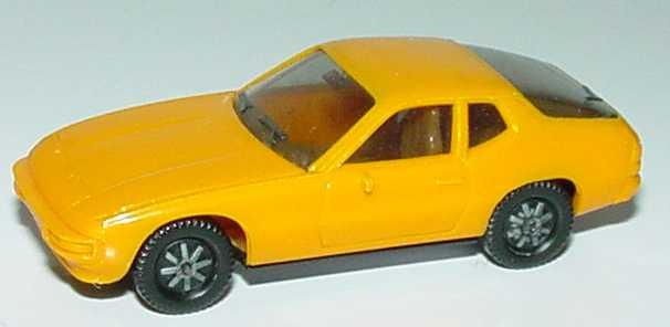 Foto 1:87 Porsche 924 orangegelb IA beige - herpa 2002