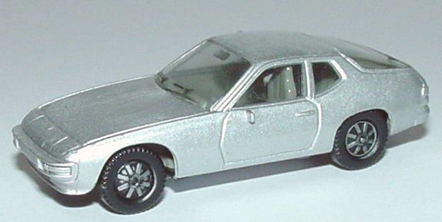 Foto 1:87 Porsche 924 silber-met. (alte Räder) herpa 3002