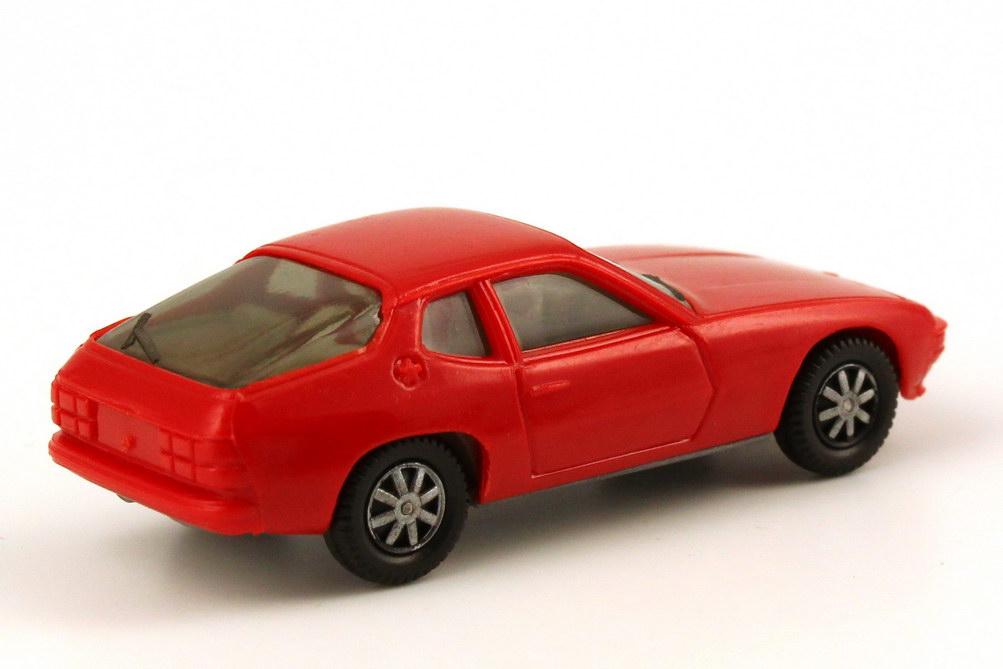 Foto 1:87 Porsche 924 tomatenrot, Bodenplatte grau herpa 2002