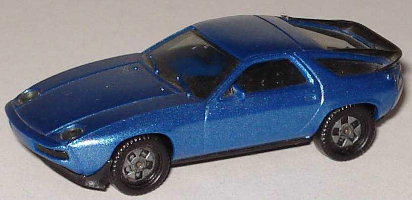 Foto 1:87 Porsche 928S blau-met. (alte Felgen), IA schwarz herpa 3025