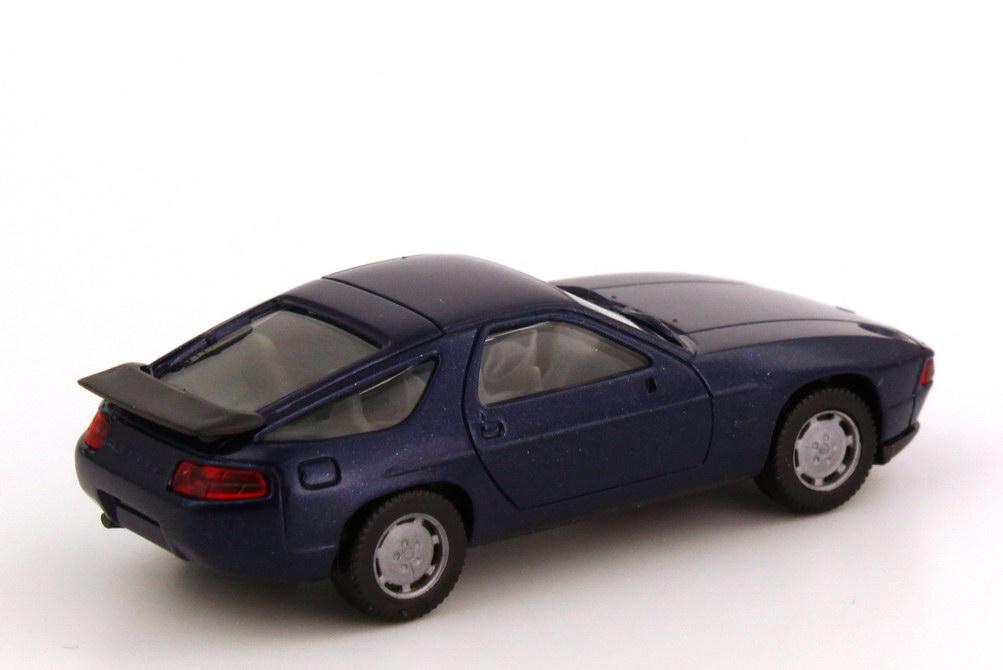Foto 1:87 Porsche 928 S4 dunkel-blau-met., IA grau herpa 3071