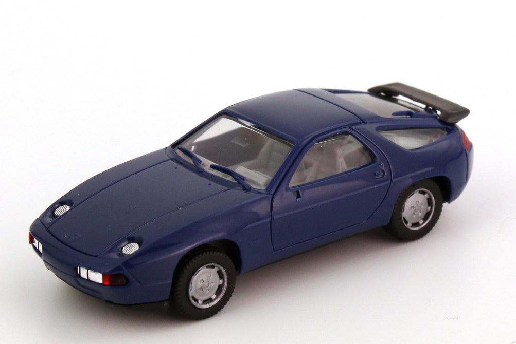 Foto 1:87 Porsche 928 S4 dunkel-blau, Scheinwerfer verchromt herpa 2071
