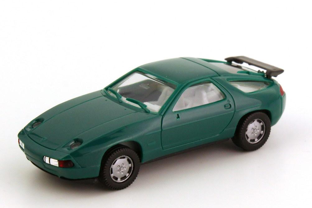Foto 1:87 Porsche 928 S4 dunkel-grün IA grauweiß - herpa 2071